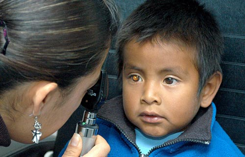 Child's eye examination