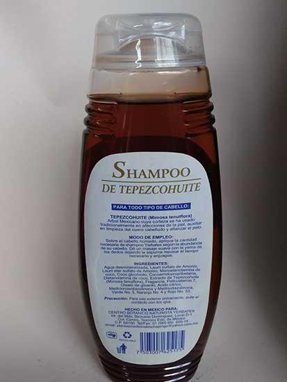 shampoo de tepezcohuite